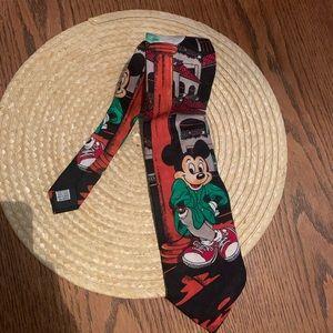 Disney Mickey Mousse Handmade In Italy Neck Tie